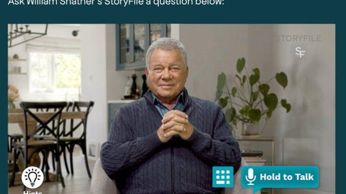 William Shatner 'AI' will chat with you about the 'Star Trek' actor's life